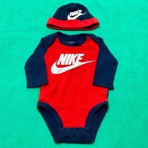 Baby Boy Nike LS Bodysuit w/ Hat